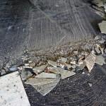 asbest houdende colovinyl tegel en bitumen